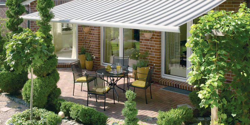Optimaler Sonnenschutz außerhalb von Gebäuden.